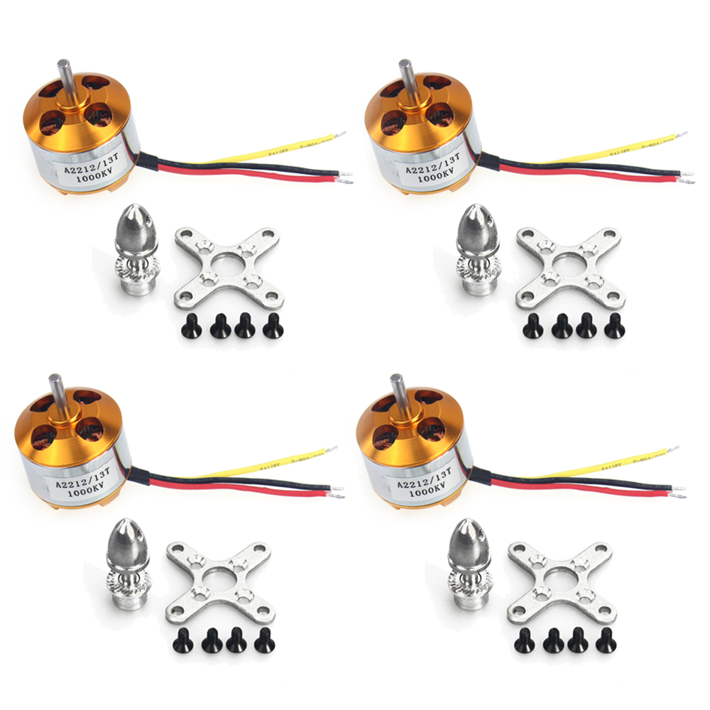 F02015-4 4Pcs A2212 1000KV Brushless Outrunner Motor 13T for DIY RC Aircraft Multirotor Quadcopter Drone FPV FS tiger motor t motor u power series u3 kv700 outrunner drone brushless motor for fpv uav aircraft multirotor copter rc plane