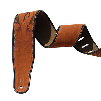 цена на YUEKO Cow Leather Soft Durable Guitar Strap Adjustable Cowhide Acoustic Electric Bass Strap Guitar Belt Guitar parts Accessories