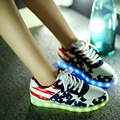 Unisex shoes LED for Adults Women Casual Shoes 2017 New Fashion LED Light  Woman Luminous shoes