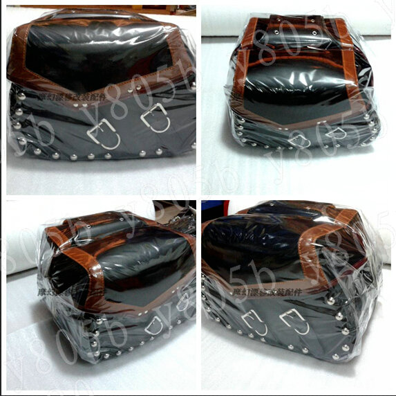 New Motorcycle Leather Side Bag Saddle Bags For Street Bike Dual