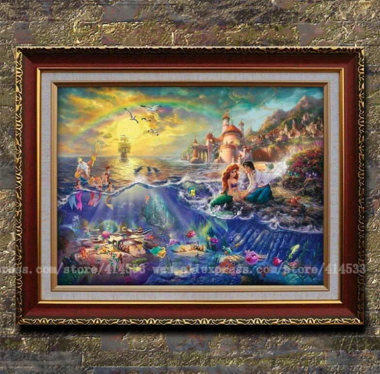 Thomas kinkade prints of oil painting the little mermaid - Home interiors thomas kinkade prints ...