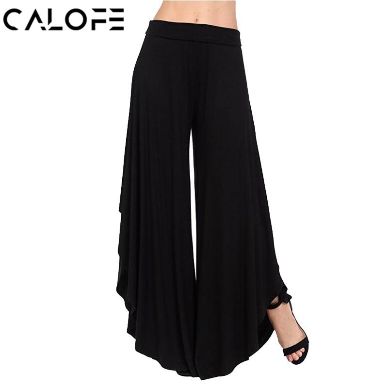 Calofe واسعة الساق السراويل النساء ربيع - ملابس نسائية