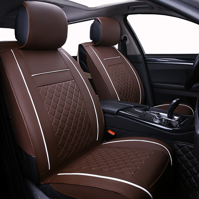 Only Front Leather Universal Car seat cover For Peugeot 307 206 308 407 207 406 408