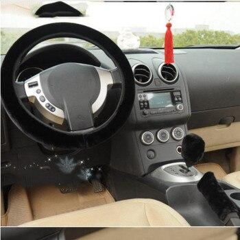 Housse de volant en laine douce et chaude pour voiture, housse universelle de volant en peluche, 35-40cm de diamètre, 1 pièce