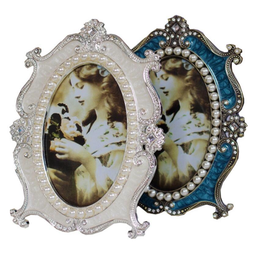1 unid estilo manera marco de fotos Marco de perlas boda dormitorio ...