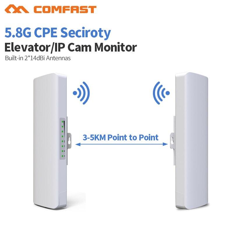2 pc 3-5 km longue distance extérieur 5.8G Wifi routeur 2 extender signal amplificateur point Wifi AP sans fil pont cpe antenne wi-fi