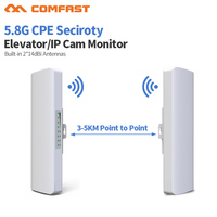 2pc 3 5km Long distance Outdoor 5.8G Wifi router 2 extender signal Amplifier point Wifi AP Wireless bridge cpe wi fi Antenna