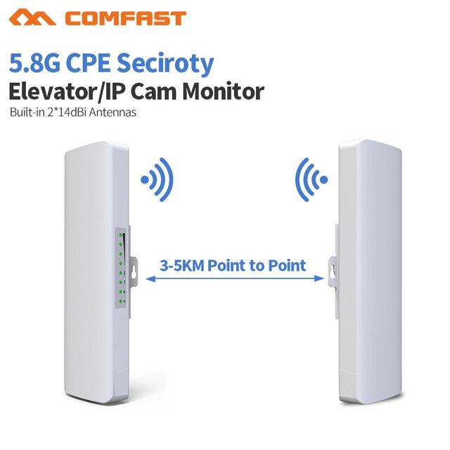 2pc Long range 3-5km Outdoor 5.8G Wifi router 2 extender signal Amplifier Point to point Wifi AP Wireless bridge cpe Antenna