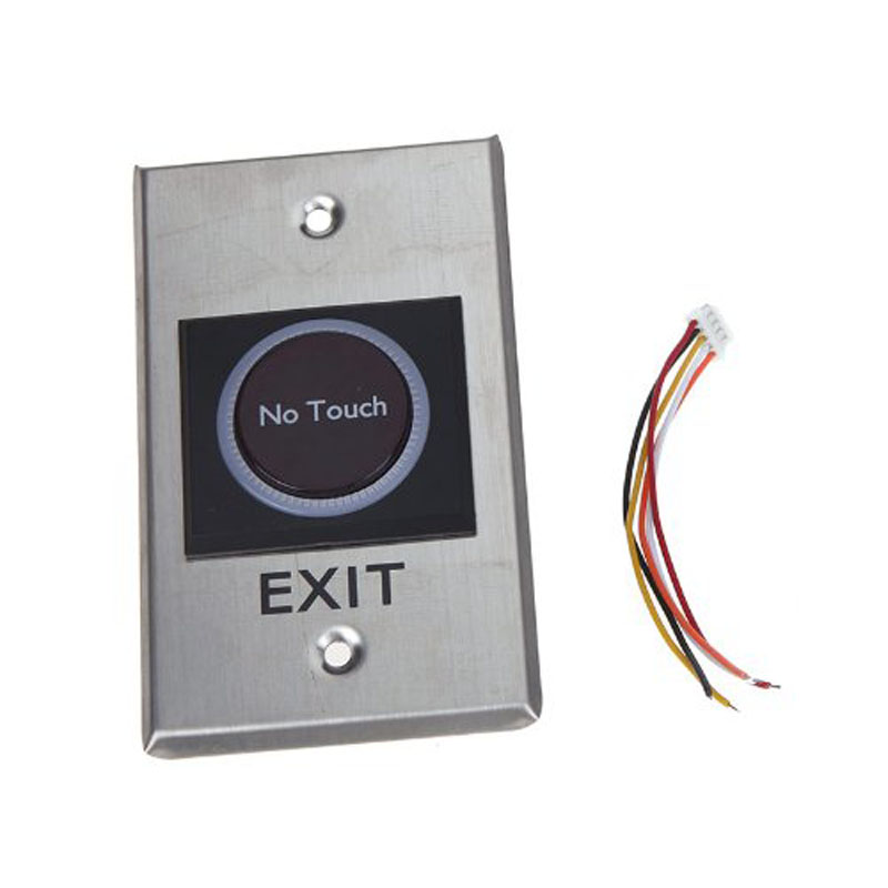 Lnfrared Sensor Switch No Touch Contactless Door Release Exit Button with LED Lndication Free Shipping no touch exit switch inductive exit button sensor access control dc12v with led indicator f1743d