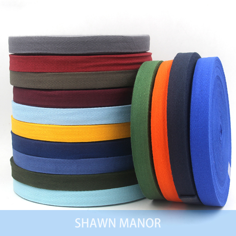 20MM Colored Twill Cotton Webbing Bias Binding Tape For