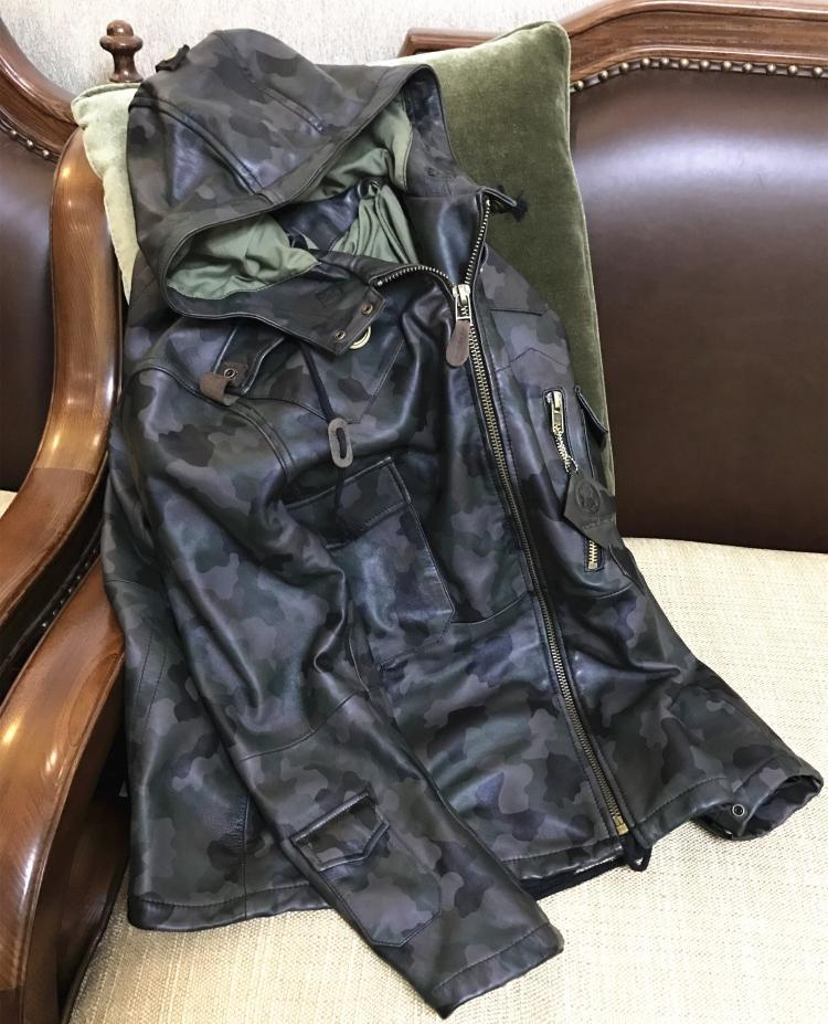 Free shipping fashion classic inter warm Sheepskin jackets men s slim long genuine sheep leather jacket
