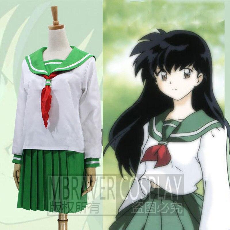 Anime Inuyasha Higurashi Kagome Cosplay Costumes Girls: InuYasha Feudal Fairy Tale Kagome Higurashi Cosplay