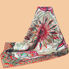 """Huajun    New brand scarf """"Flowers of South Africa5"""" 90 silk square 100% natural mulberry silk hand-rolled twill"""
