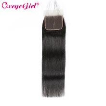 4x4 Lace Closure Brazilian Hair Straight Hair Bundles Remy Human Hair Closure With Baby Hair Free