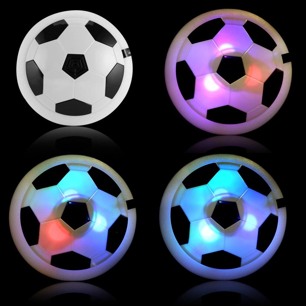 OCDAY Air Power Fodbold Farverig LED Lys Elektrisk Disk Indendørs Fodbold Legetøj Multi-Overflade Hovering Gliding Toy Hot Selling