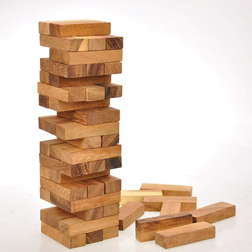 Blocs en bois tour en bois jeu empilable jeu de Table Coordination œil-main enfants adultes divertissement familial jouets éducatifs
