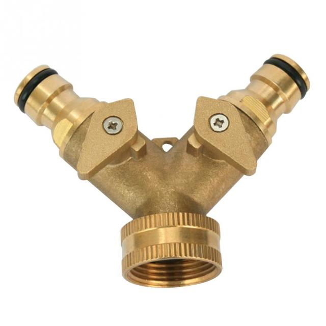 3 4 inch garden hose. Gardening Irrigation Tool 3/4 Inch 2 Way Splitter Brass Water Hose Tap Quick Connector 3 4 Garden A