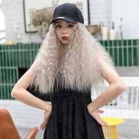 2 Pieces Hat and Wig for Women Baseball Cap with Braid Birthday Halloween Party Costume Cosplay Hip hop Hat Hair Dreadlocks
