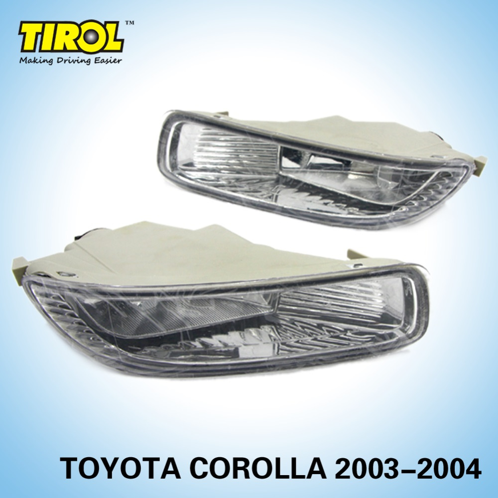 Tirol T16553 a Fog Driving Lamp kit OEM Replacement for Toyota Corolla Pickup Truck Smoke Front Bumper Lamps Pair Free Shipping fit for 02 08 toyota solara camry corolla oe fog light smoke lamps wiring kit included usa domestic free shipping hot selling