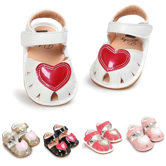 Hausschuhe Nähen freies verschiffen sommer nähen einer herz baby mädchen sandalen