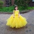 Flores belle princess tutu vestido das meninas do bebê crianças fantasia festa de natal trajes de halloween beleza besta cosplay vestido vestido de baile