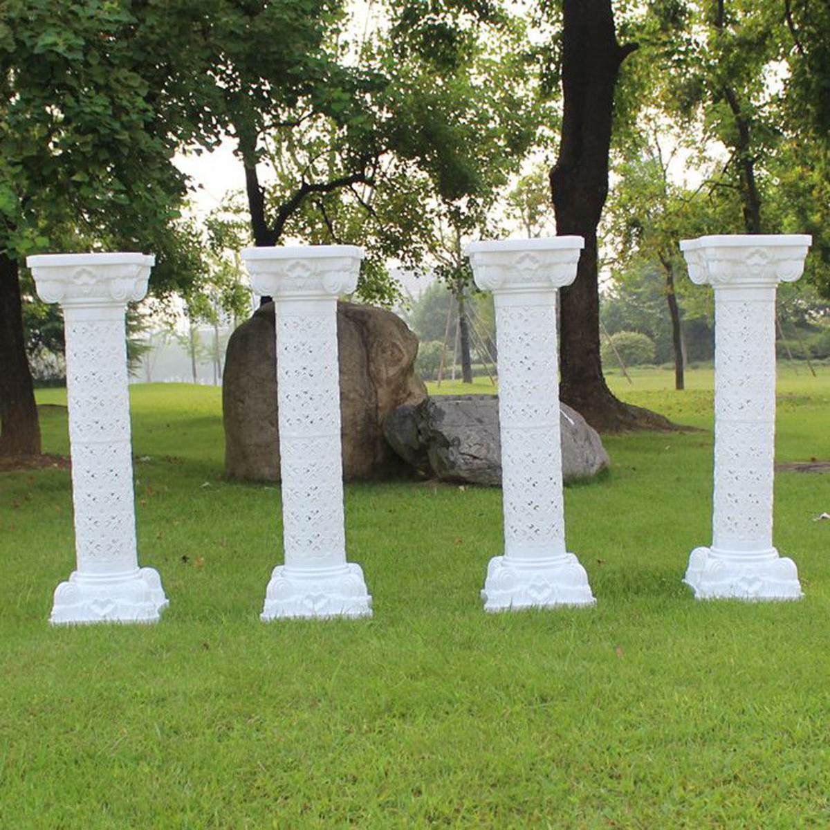 98CM Plastic Roman Pillar Column Pedstal Prop Stand Holder Wedding Party Decor Supplies