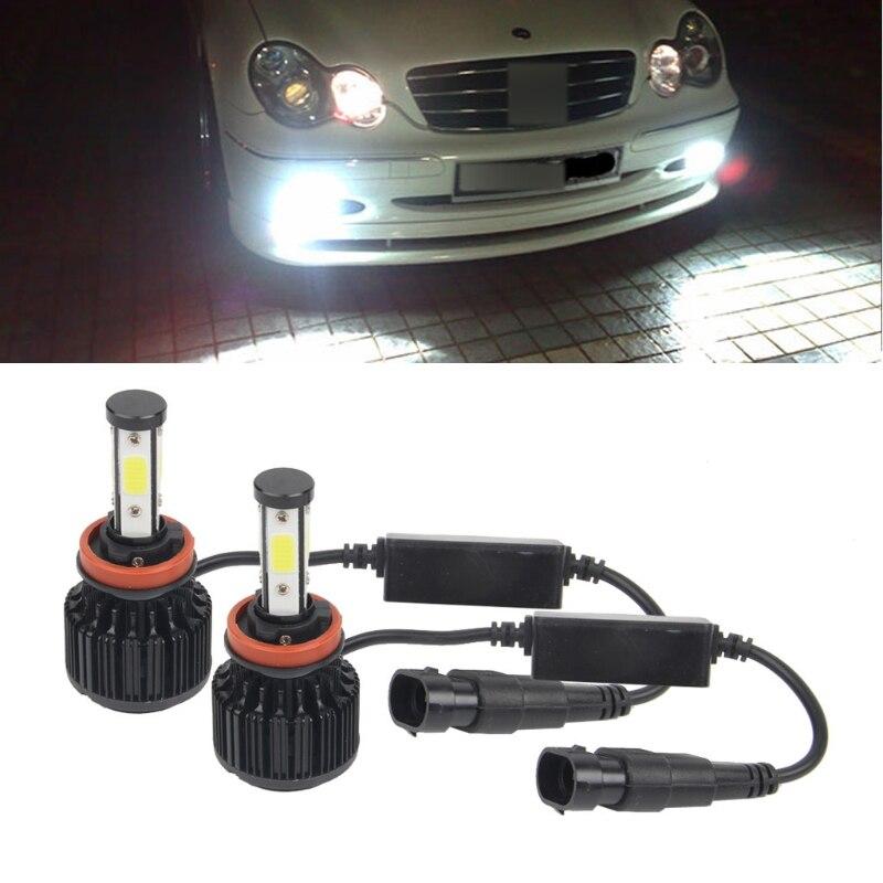 2xNEW High Performance H11 160W 18000LM LED Headlight Kit Beam Bulbs 6000K 1pair dc9 36v h1 cob 160w 8000lm led headlight kit lights beam bulbs 6000k external lights