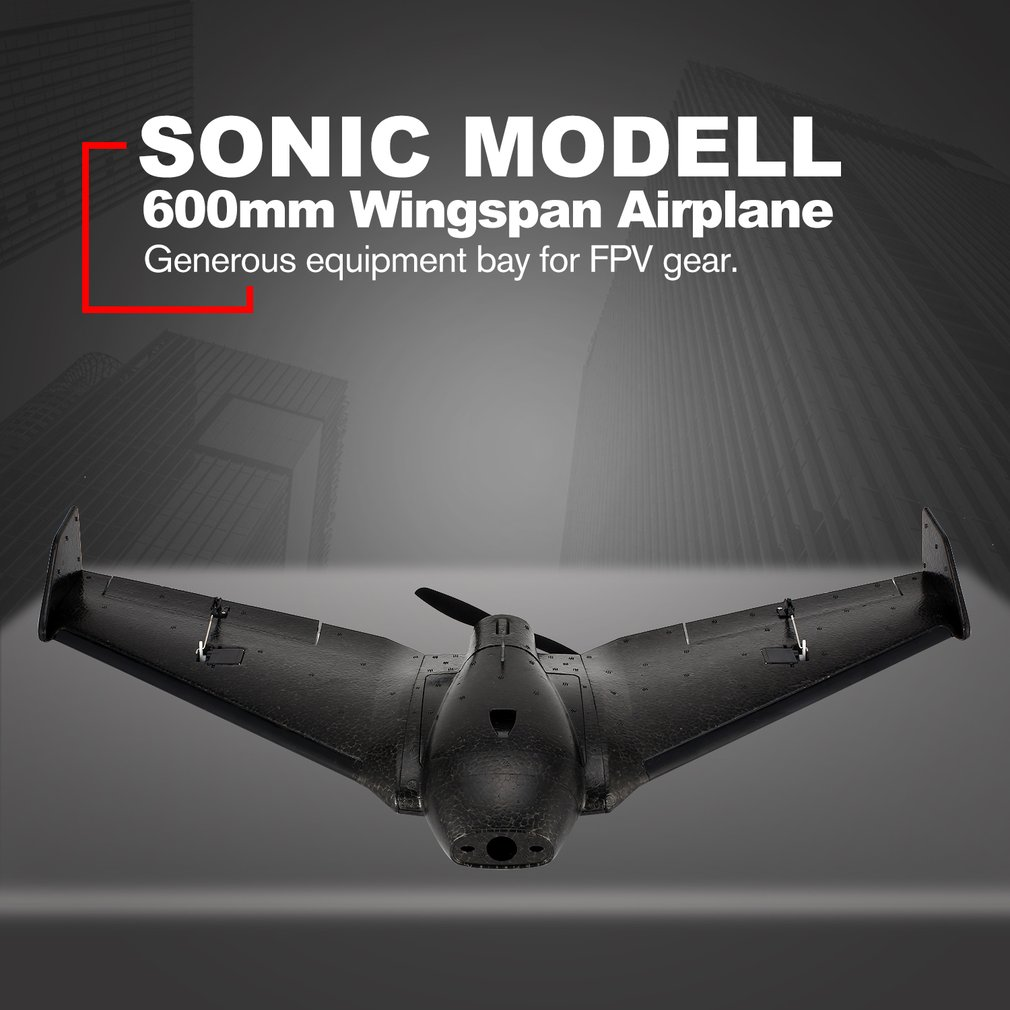 SONIC MODELL Mini AR Wing 600mm Wingspan EPP RC FPV Racing Drone Fixed Wing Airplane Plane UAV with High Speed PNPSONIC MODELL Mini AR Wing 600mm Wingspan EPP RC FPV Racing Drone Fixed Wing Airplane Plane UAV with High Speed PNP