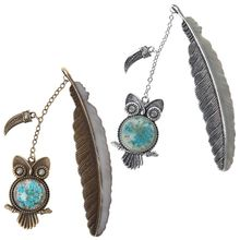 Luminous Night Owl Bookmark Label Reading Maker Feather Book Stationery Student Gift