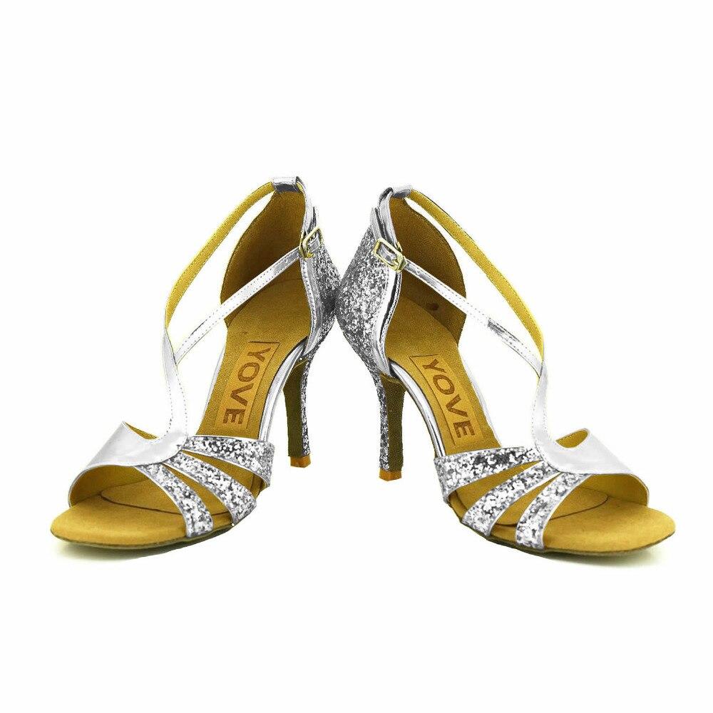 ФОТО YOVE Dance Shoes Women's Latin/ Salsa Dance Shoes 3.5