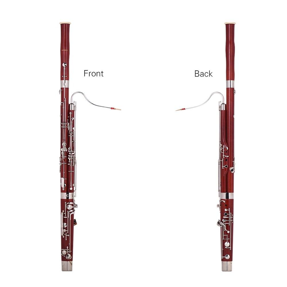 ammoon professional c key bassoon maple wood body cupronickel silver