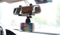 Adjustable Rotary GPS Mobile Phone Car Auto Rearview Mirror Mount Holders Stands For Zopo Flash G5
