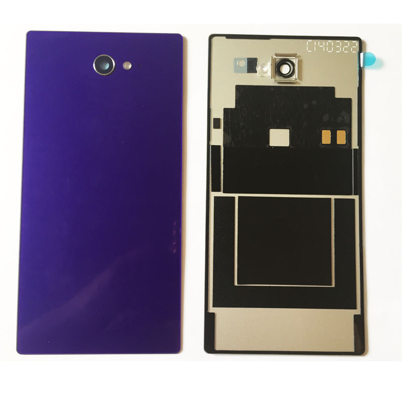Новый задняя Батарея крышка двери для sony Xperia M2 D2305 D2303 Корпус чехол с NFC Зарядное устройство Разъем