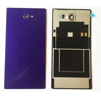 Nova Tampa Traseira Porta Da Bateria Para Sony Xperia M2 D2305 D2303 Caso Da Habitação Com NFC Carregador Conector