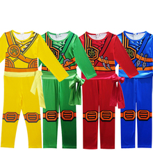 Ninjago Косплэй костюм комплекты одежды для мальчиков Детский костюм на Хэллоуин для детей Необычные Вечерние Наряжаться ниндзя Косплэй супергероя костюмы