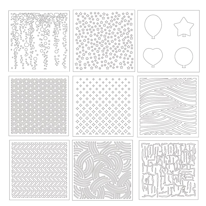 Templates Stamp Paper Card Stencils Scrapbooking Multi Style Diy Children Pp Home