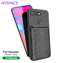 Backup Power Bank Cover 4700mAh Portable Battery Charger Case For Huawei Honor V20 Extended Phone Battery Power Case 4700mah extended phone battery power case for huawei honor 8 lite backup power bank honor 8 lite portable battery charger case