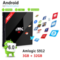 3 GB 32 GB S912 H96 PRO + Android TV Box Amlogic Octa núcleo 3G/16G 2G/16G Android 6.0 Media Player 2.4G/5.8G WiFi UHD 4 K Set Top caixa