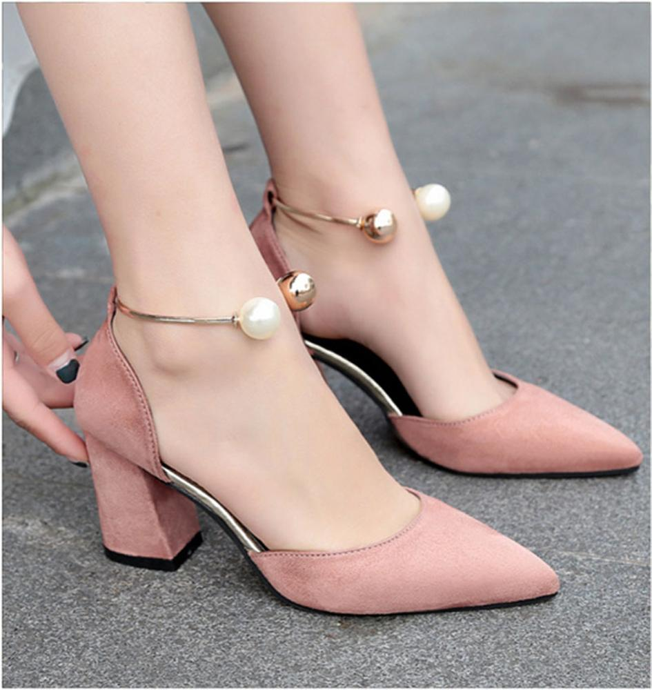 1e309f64c16 US $14.85 25% OFF|Women Sandals High Heels Summer Women Shoes Gladiator  Sandals Block Heels Pearl Strap Women Pumps Chunky Heels Shoes 8cm-in  Women's ...