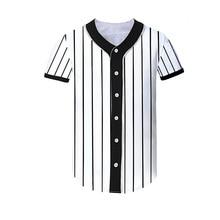 Galeria de striped baseball shirt por Atacado - Compre Lotes de striped  baseball shirt a Preços Baixos em Aliexpress.com 36fcbaadfe17f