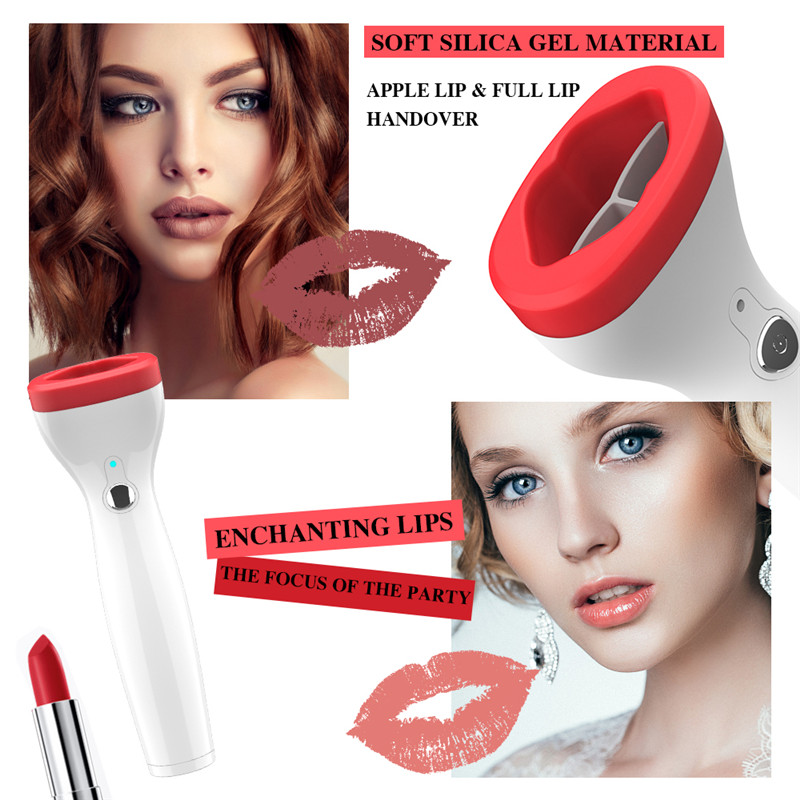 Wholesale 1PC Automatic Lip Plumper Electric Lip Enhancer Vacuum Suction Designed Lip Plumper Enhancement Device Non-injection(China)