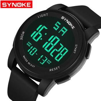 bb9780a8 Product Offer. SYNOKE известный винтажные часы для мужчин Роскошные  Лидирующий светодио дный бренд LED часы мужской спорт электронные наручные  ...