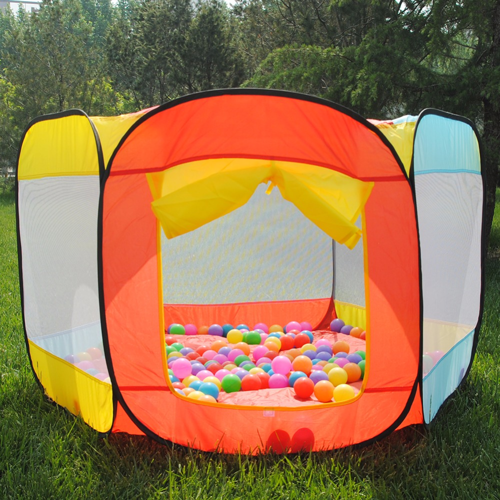 Outdoor Ocean Ball Pool Pit Play House Indoor and Outdoor Easy Folding Ball Pit Hideaway Tent Play Hut Playing House Pool Indoor-in Toy Tents from Toys ... : tent ball pit - afamca.org