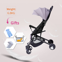 лучшая цена 175 degree 6.8kg super light baby stroller High landscape four-wheeled baby pram free shipping fold Newborn baby carriage