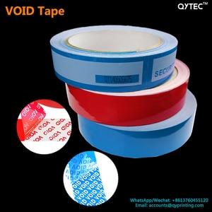 Image 1 - 1 rollo de cinta adhesiva de 25mm x 30m, cinta de embalaje abierta vacía, azul, rojo, etiqueta a prueba de manipulaciones, garantía de seguridad, sello del vacío, paquete de pegatinas, cintas