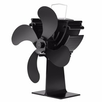 Heat Powered Heat Furnace Stove Top Fan Stove Heating Fan for Wood Log Burner Fireplace Eco Friendly 16% Fuel Saving
