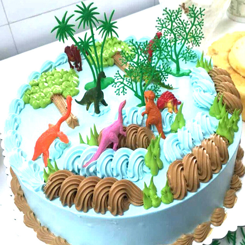 24pcs Dinosaur Party cupcake toppers picks Kids birthday party Supplies  cw