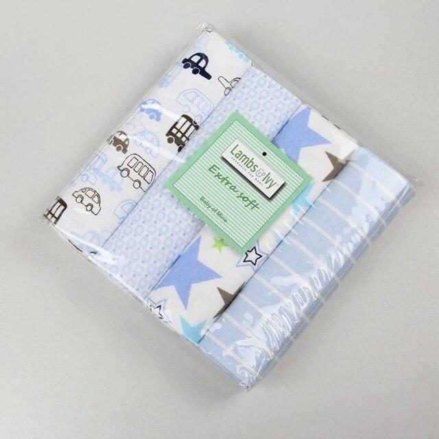 Free shipping 4pcs lot cotton flannel newborn baby blankets   cotton blanket    throws baby blanket grasping carpe 76 x 76 cm 00b0ff40e