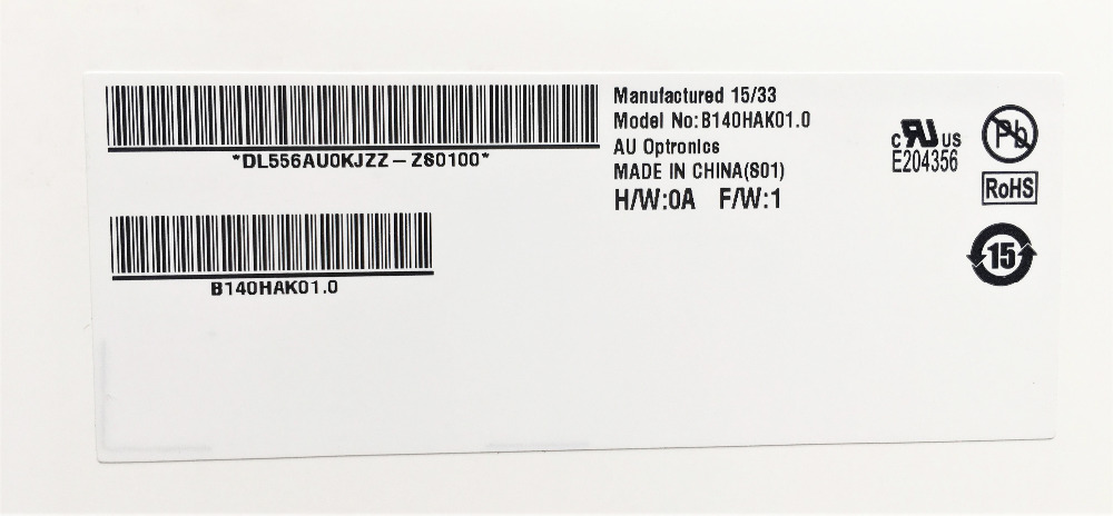 Matrix for Laptop 14 0 LED Display Touch LCD Screen B140HAK01 0 FHD 1920x1080 eDP 40PINS