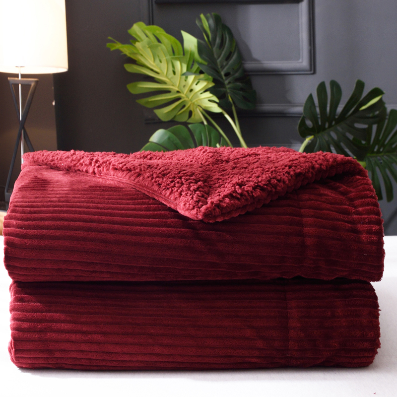 Terrific Us 35 99 Idouillet Fuzzy Thick Sherpa Fleece Blanket For Bed Couch Sofa Travel Velvet Bedspread 150X200Cm 200X230Cm Burgundy Blue Mauve In Blankets Bralicious Painted Fabric Chair Ideas Braliciousco
